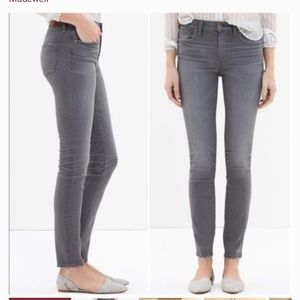 Madewell Gray High Riser skinny Jeans size 28